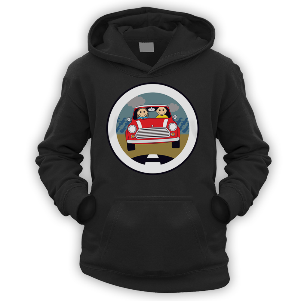 x9 Colours Austin Mascot Smiles Kids Hoodie Gift Classic Car BMC 850 Rally